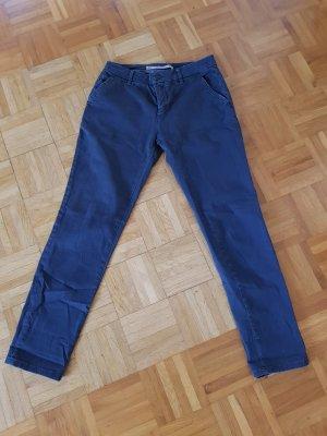 Chino Hose Zara 34 dunkelblau
