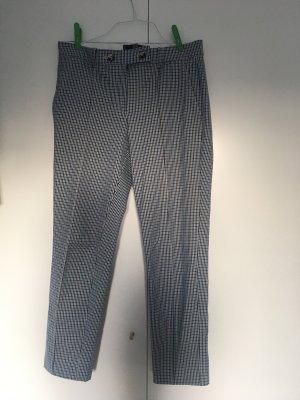 Chino von Mango in blau-schwarz kariert