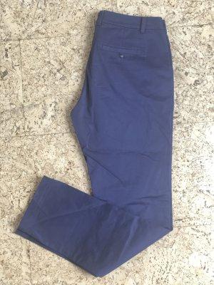 Comma Chino staalblauw-korenblauw Katoen