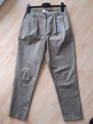 Heine Pantalone chino grigio-verde-cachi Cotone