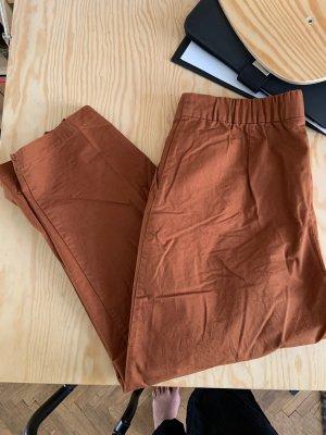 Monki Chinos brown-cognac-coloured cotton