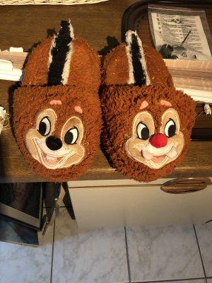 Disney Pantofle brązowy-czerwony
