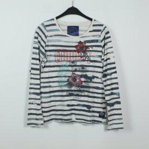 Chipie Koszulka z długim rękawem biały-stalowy niebieski Bawełna