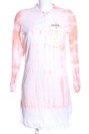Chipie Sukienka tunika jasny pomarańczowy-biały Gradient W stylu casual