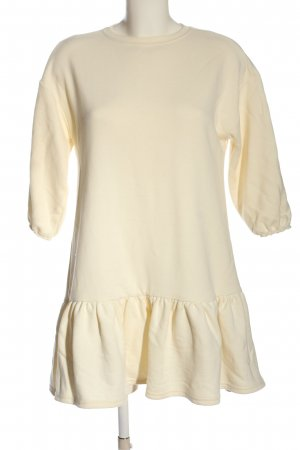Chiquelle Kurzarmkleid creme Zopfmuster Casual-Look