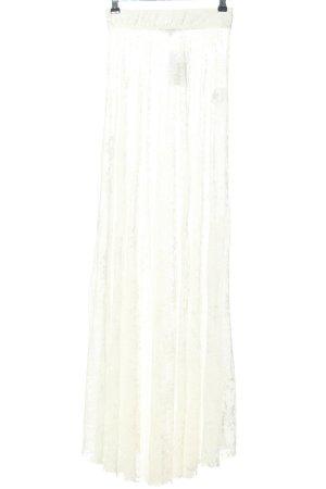 Chiquelle Jupe en dentelle blanc style festif