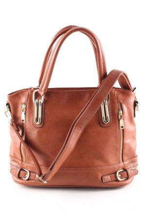 Chispaulo Handtasche braun Business-Look