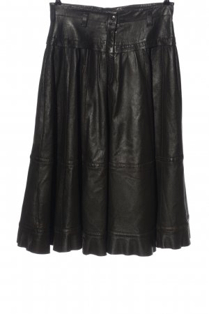 Chiwitt Leather Skirt black casual look
