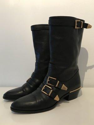 Chloé Buty w stylu western czarny Skóra