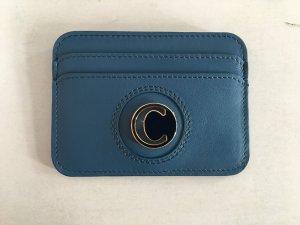 Chloé Porte-cartes bleu pétrole cuir