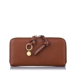 Chloe Alphabet Leather Zip Around Wallet