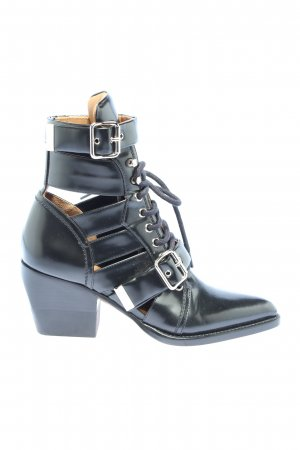 "Chloé Ankle Boots ""Reilly 60 Buckle Embellished Ankle Boots"" black"