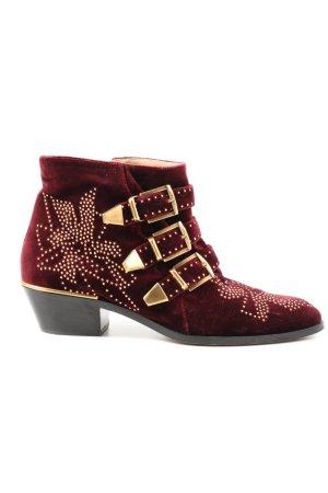 Chloé Tronchetto rosso-oro stile casual