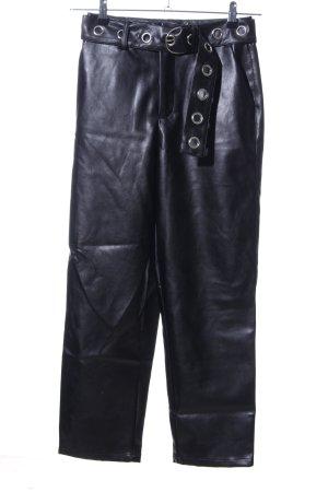 pantalón de cintura baja negro look casual