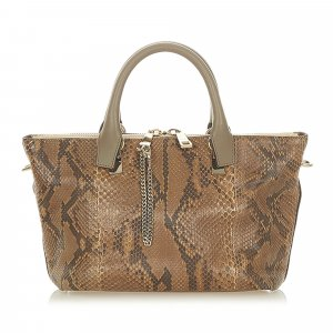 Chloé Satchel brown reptile leather
