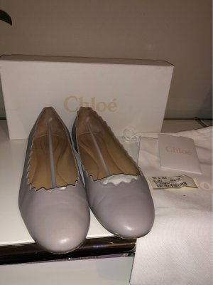 Chloé Bailarinas plegables gris Cuero