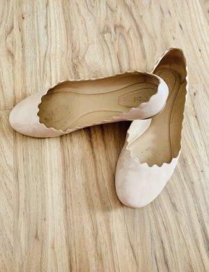 Chloé Ballerina di pelle verniciata multicolore Pelle