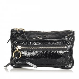 Chloé Clutch black imitation leather