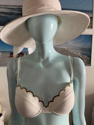 Chloé Bikini w kolorze białej wełny-złoto