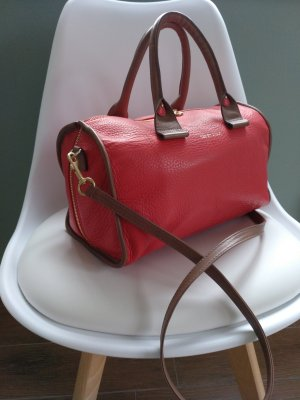 See by Chloé Bowling Bag grey brown-bright red leather