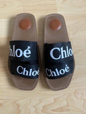 Chloé Sandalo comodo nero-marrone