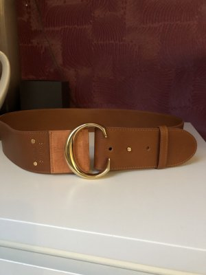 Chloé Leather Belt camel-gold-colored
