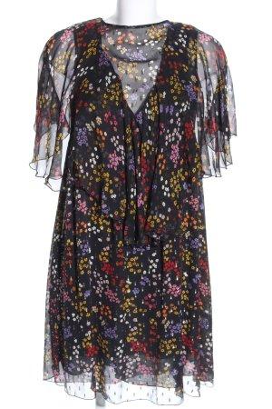 Chloé Vestido de chifón estampado repetido sobre toda la superficie elegante