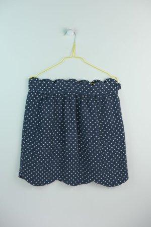 Chloé Linen Skirt dark blue-white linen