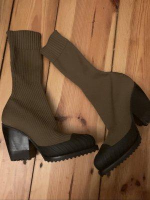 Chloe chloè Stiefel socks Overknee style logo khaki Stiefelette 36