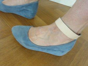 Chloé Baleriny Mary Jane baby blue Skóra
