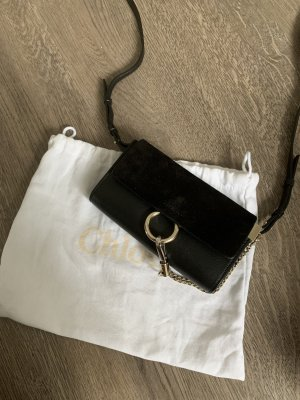 Chloé Crossbody bag black-gold-colored