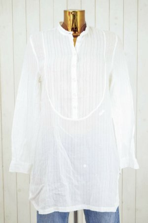 CHLOÉ Damen Tunika Hemdkleid Baumwolle Streifen Langarm Lang Gr.fr.T40/dt.38