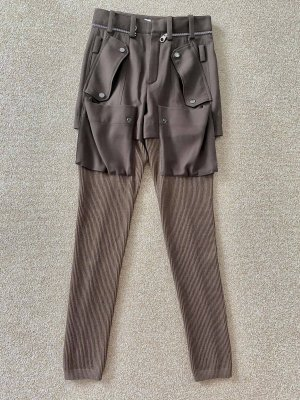Chloé Wełniane spodnie brązowy-beżowy