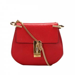 Chloé Crossbody bag red leather