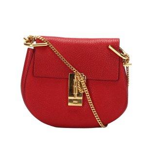 Chloé Gekruiste tas rood Leer