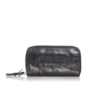 Chloe Eclipse Leather Zip Around Wallet