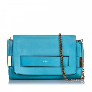 Chloé Crossbody bag blue leather