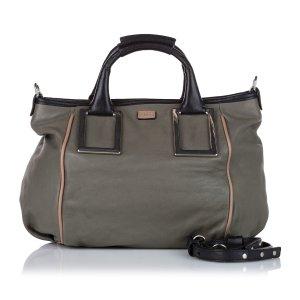 Chloé Satchel green leather