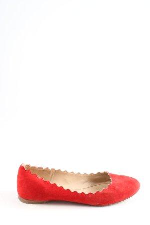 Chloé Składane baleriny czerwony W stylu casual