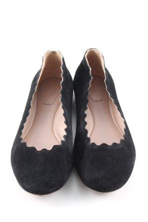 Chloé faltbare Ballerinas schwarz Casual-Look