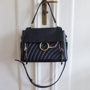 Chloé Sac porté épaule bleu foncé-noir cuir