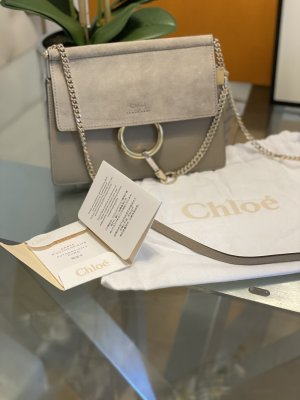 Chloe Faye Mini Flap Shoulder Bag Motty Grey