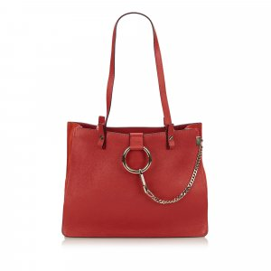 Chloé Tote red leather