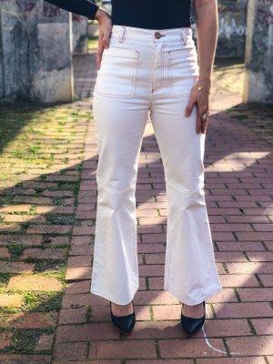 Chloé Pantalón de campana blanco