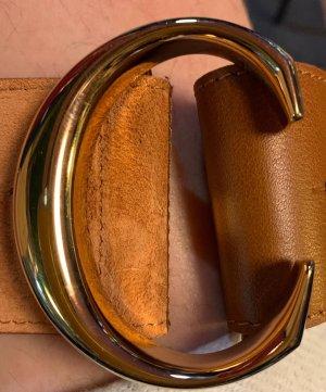 Chloé Leather Belt cognac-coloured-gold-colored
