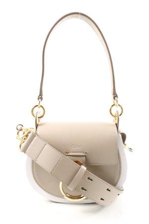 "Chloé Sac à main ""Tess Shoulder Bag Small Leather"" blanc cassé"