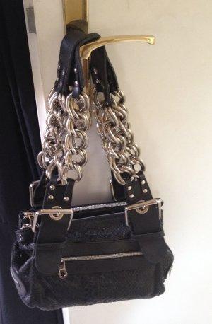 Chloé Handtasche schwarz aus echtem Pythonleder