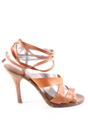 Chloé High Heel Sandaletten hellorange-braun Casual-Look