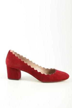 Chloé Tacones altos rojo look casual