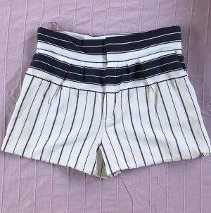 Chloe high waist Shorts blau weiss gestreift